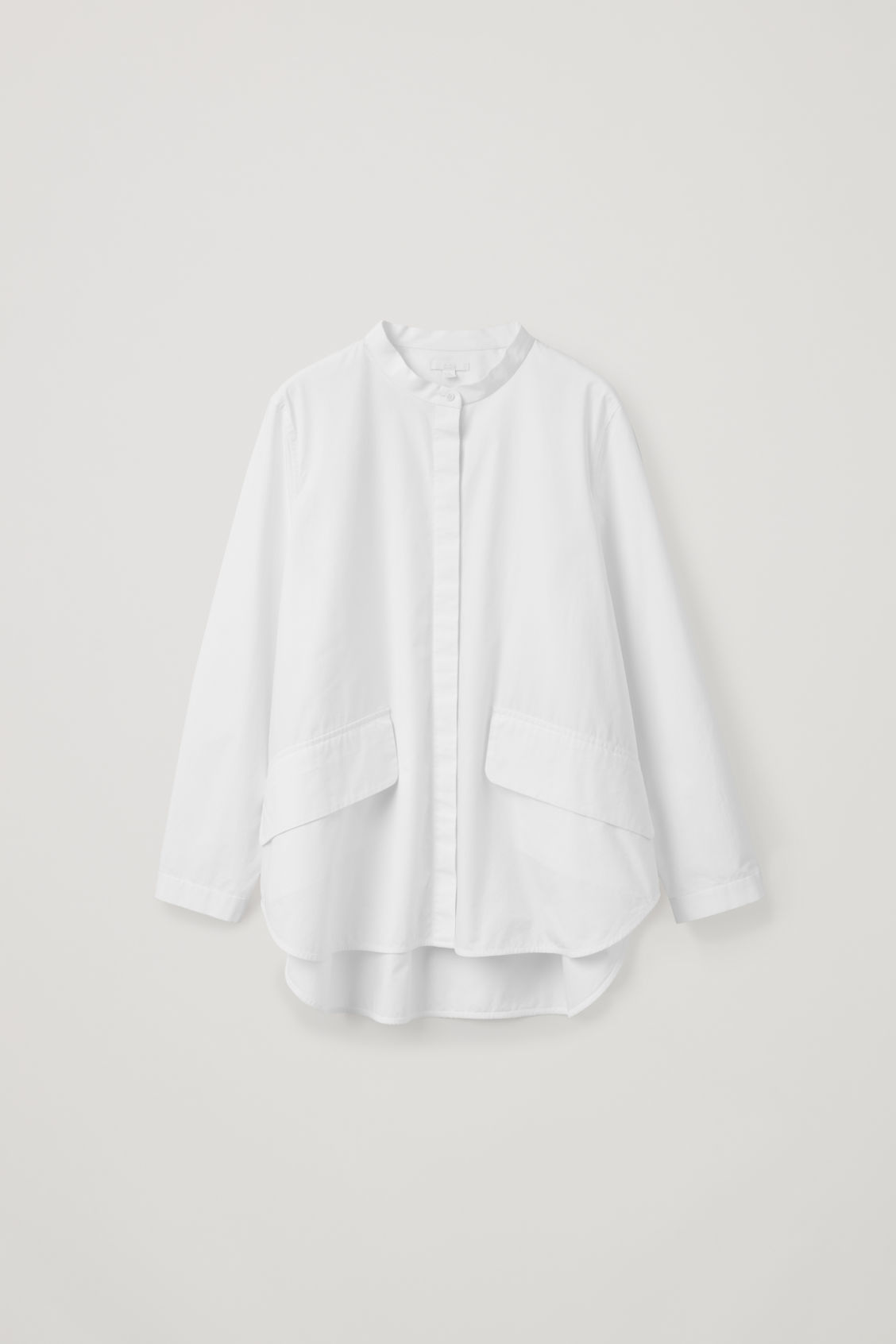 Front image of Cos voluminous shirt with pockets in white