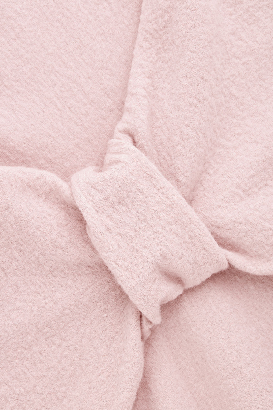 Side image of Cos bow-detailed wool jumper in pink