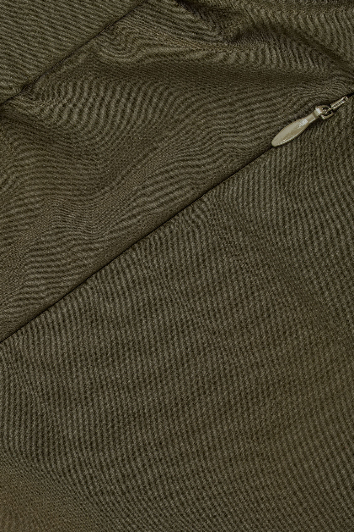 Side image of Cos light elasticated trousers in green