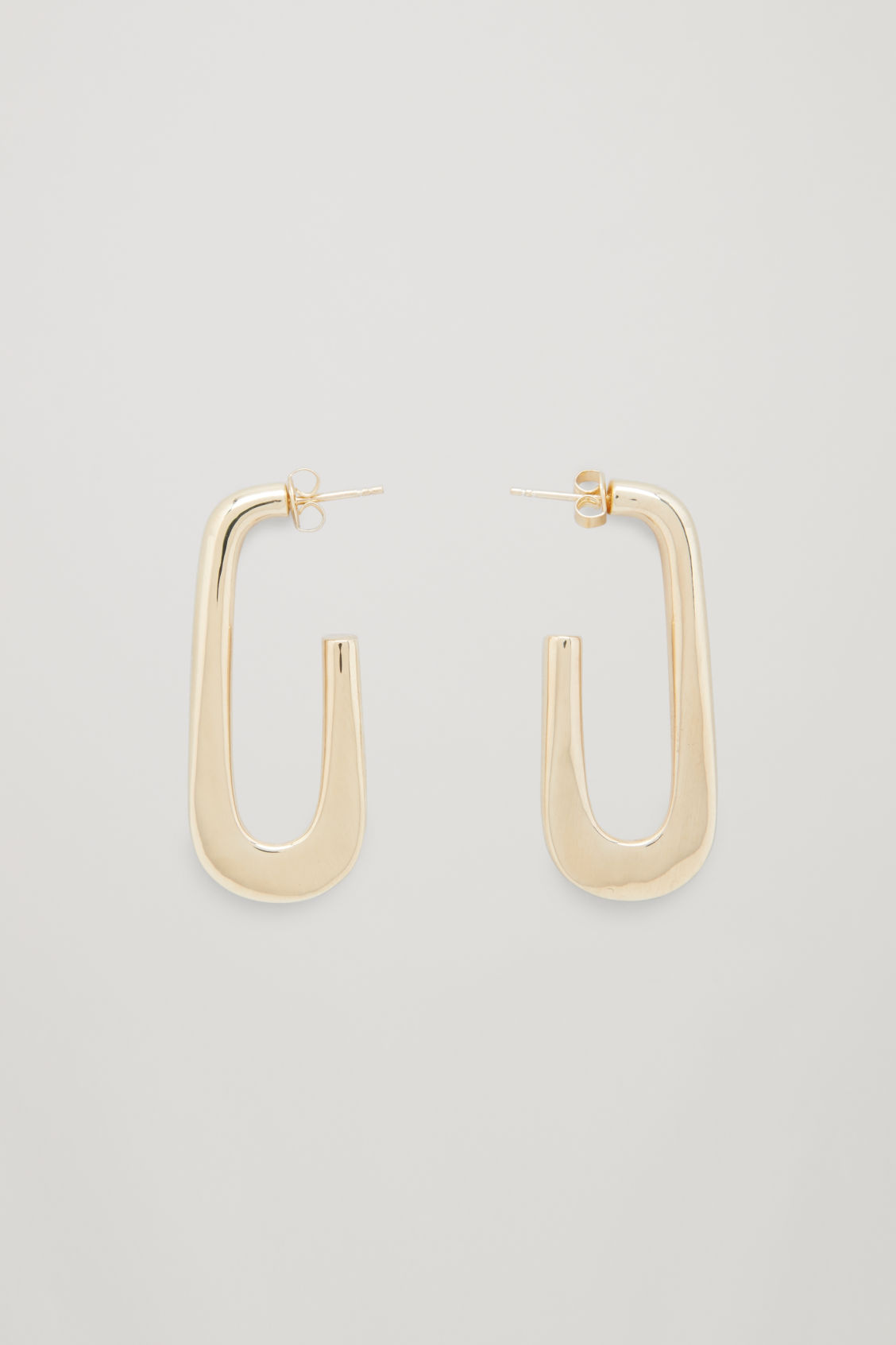 Front image of Cos gold-plated hoop earrings  in gold