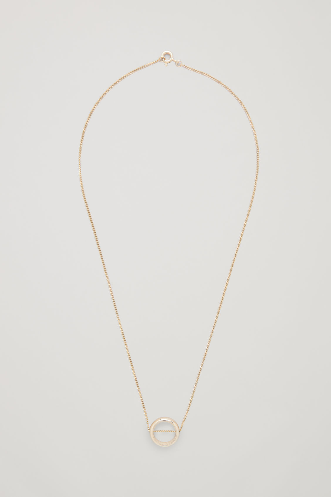 Front image of Cos gold-plated pendant necklace in gold