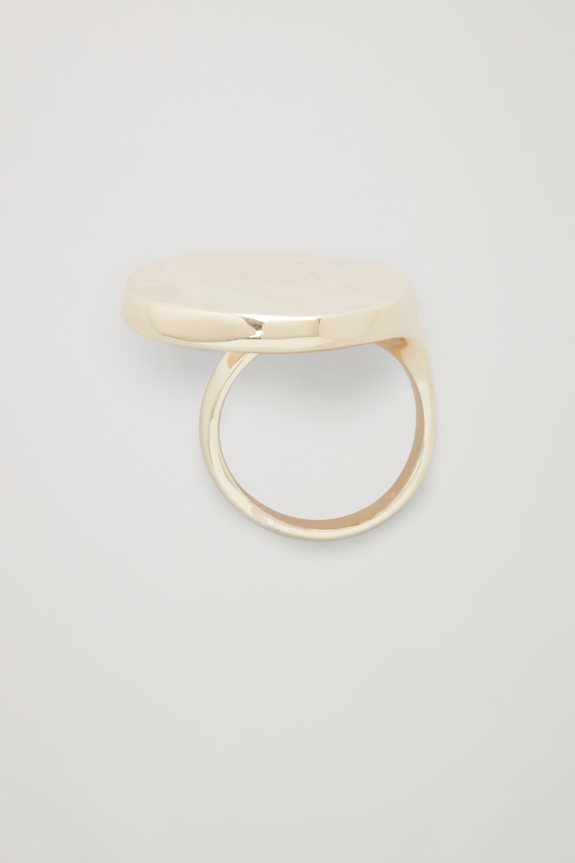 Front image of Cos gold-plated statement ring in gold