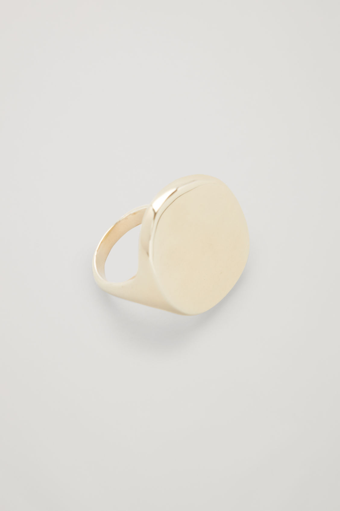 Side image of Cos gold-plated statement ring in gold