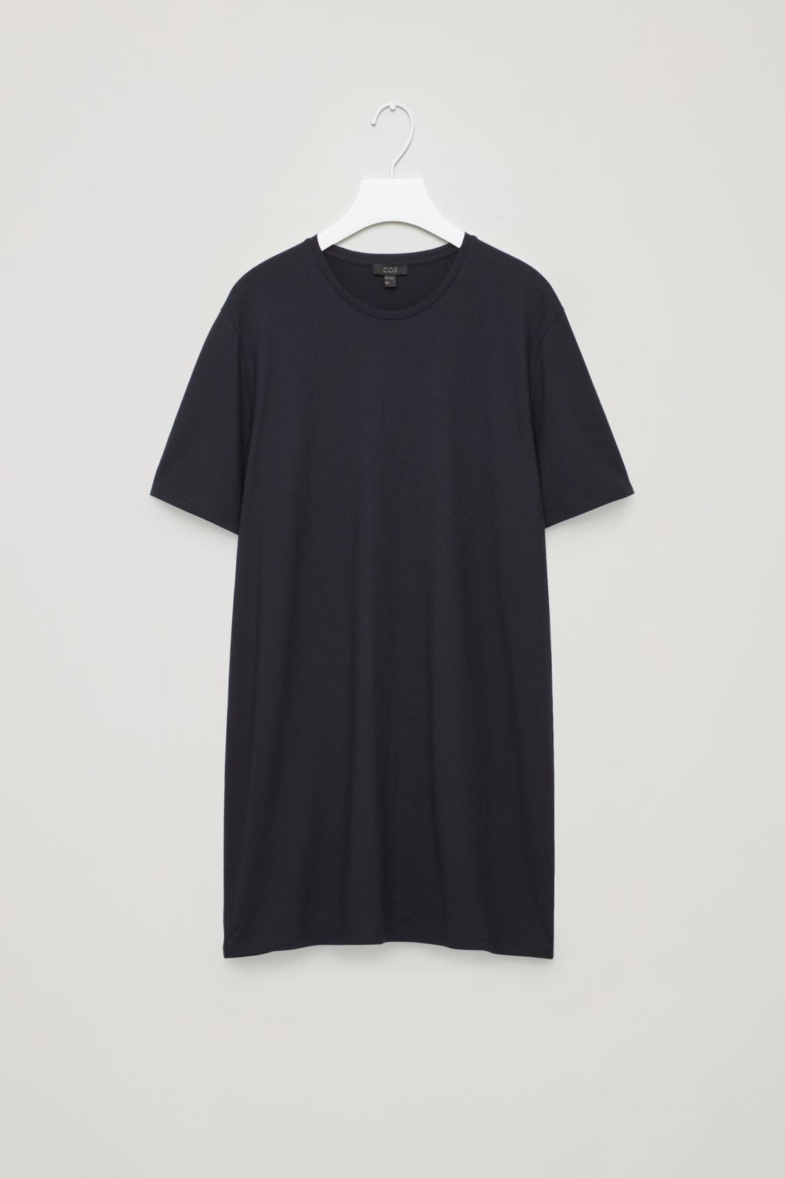 Front image of Cos long round-neck t-shirt  in blue