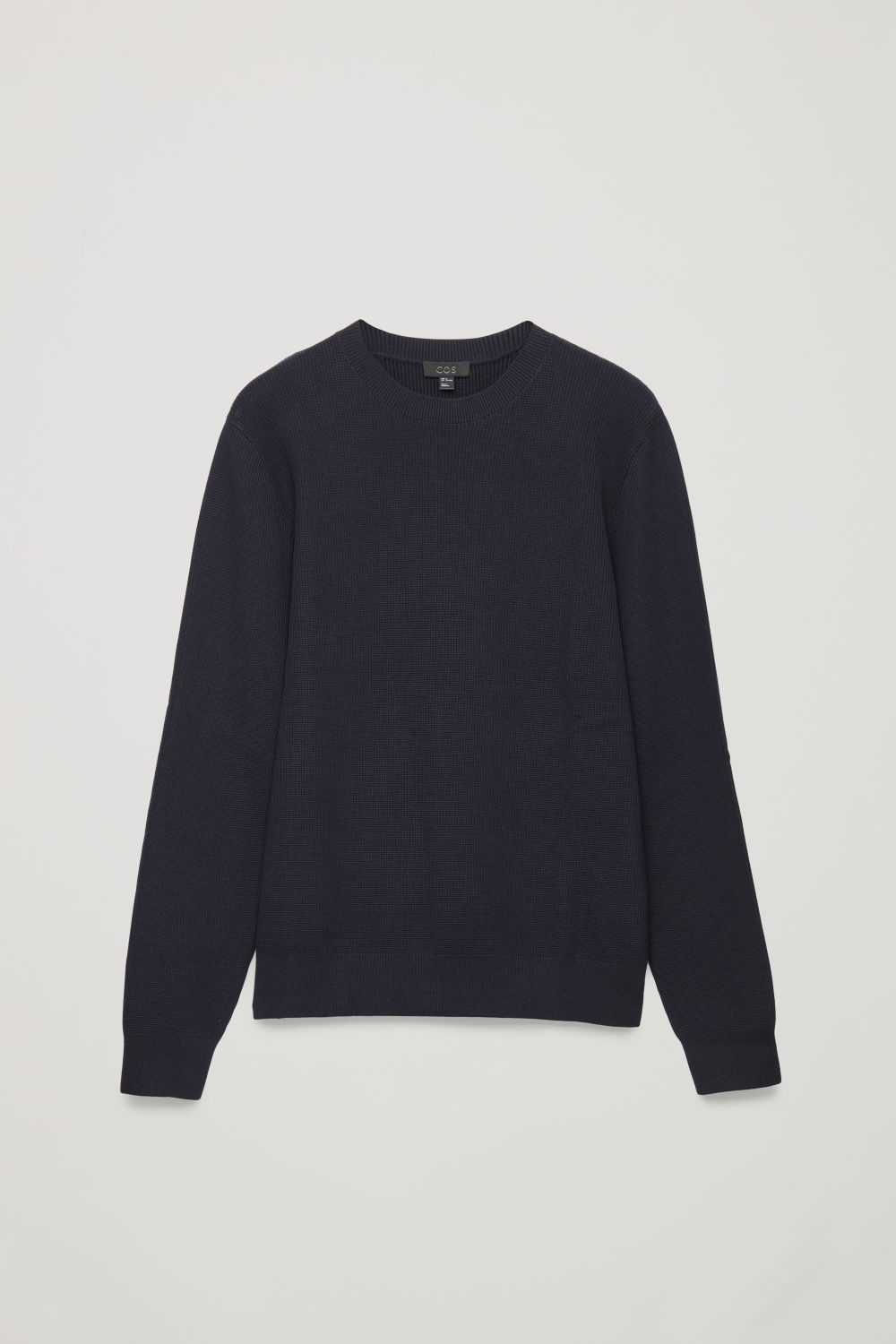 Front image of Cos moss-stitch knit jumper in blue