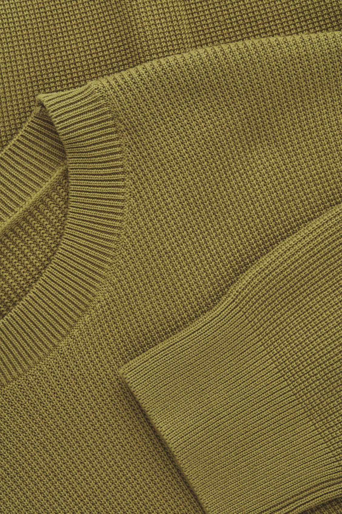 Side image of Cos moss-stitch knit jumper in yellow