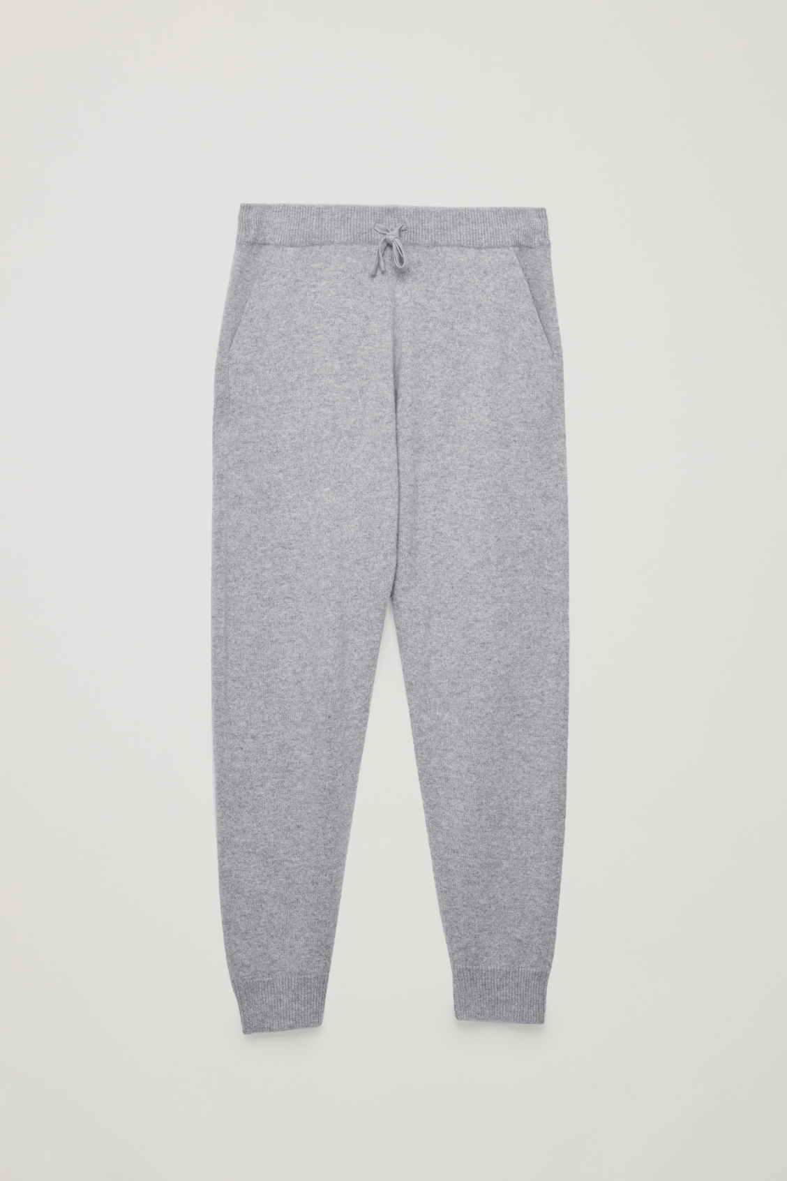 Front image of Cos relaxed cashmere trousers in grey