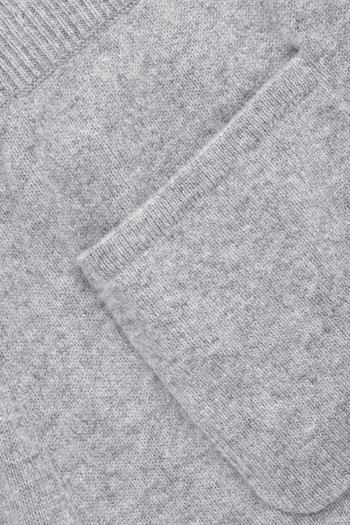 Side image of Cos relaxed cashmere trousers in grey
