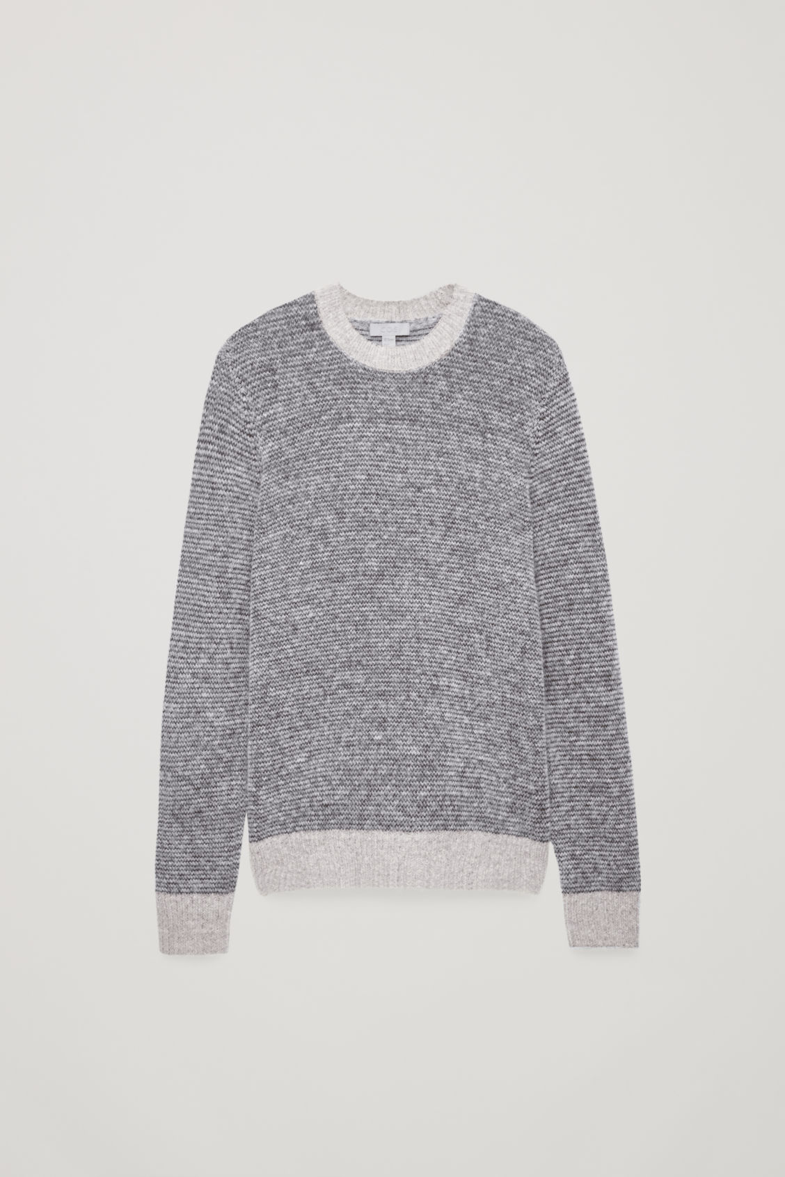 Front image of Cos chunky-knit round-neck jumper in grey