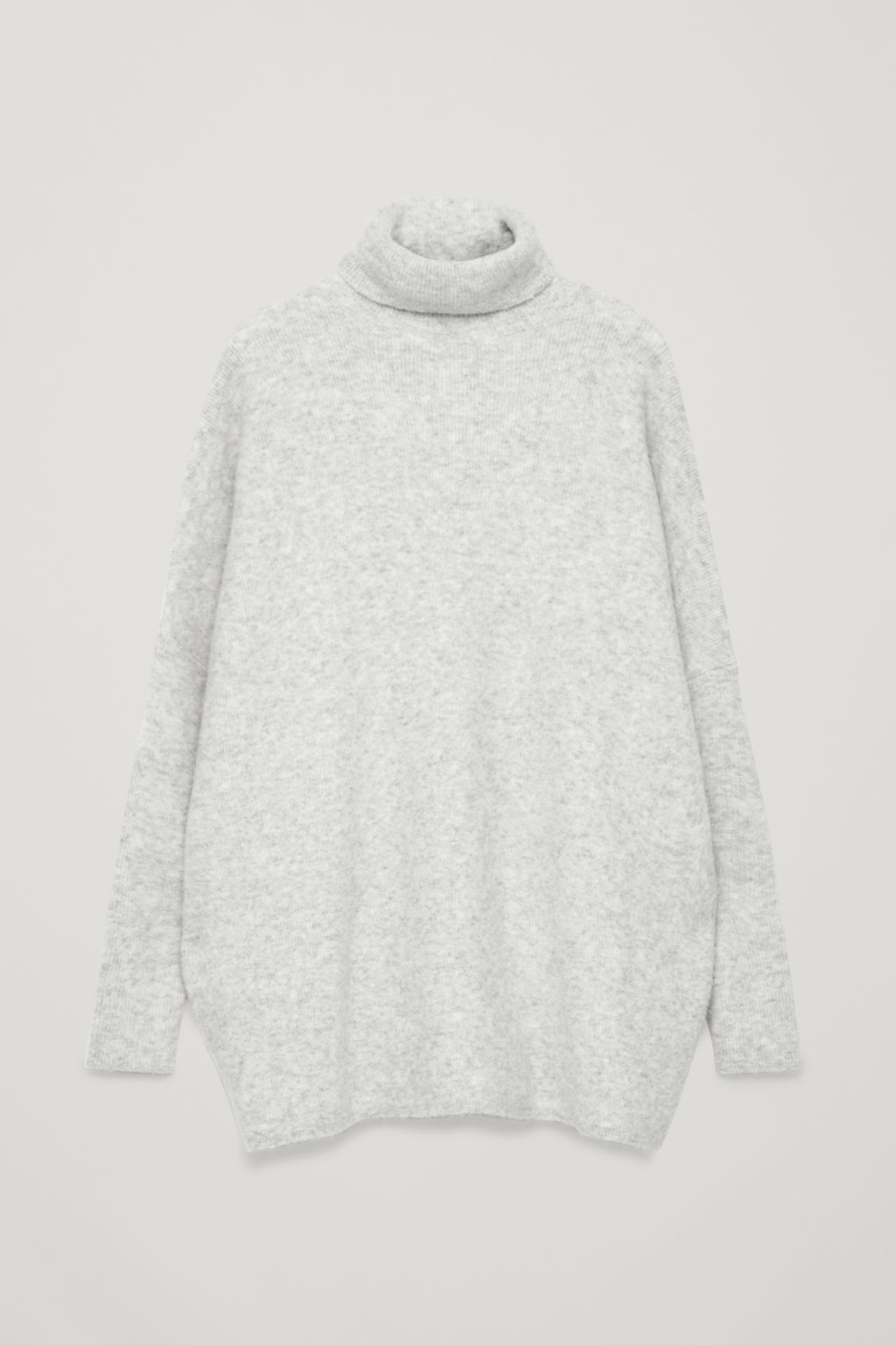 Front image of Cos alpaca-blend tunic jumper in grey
