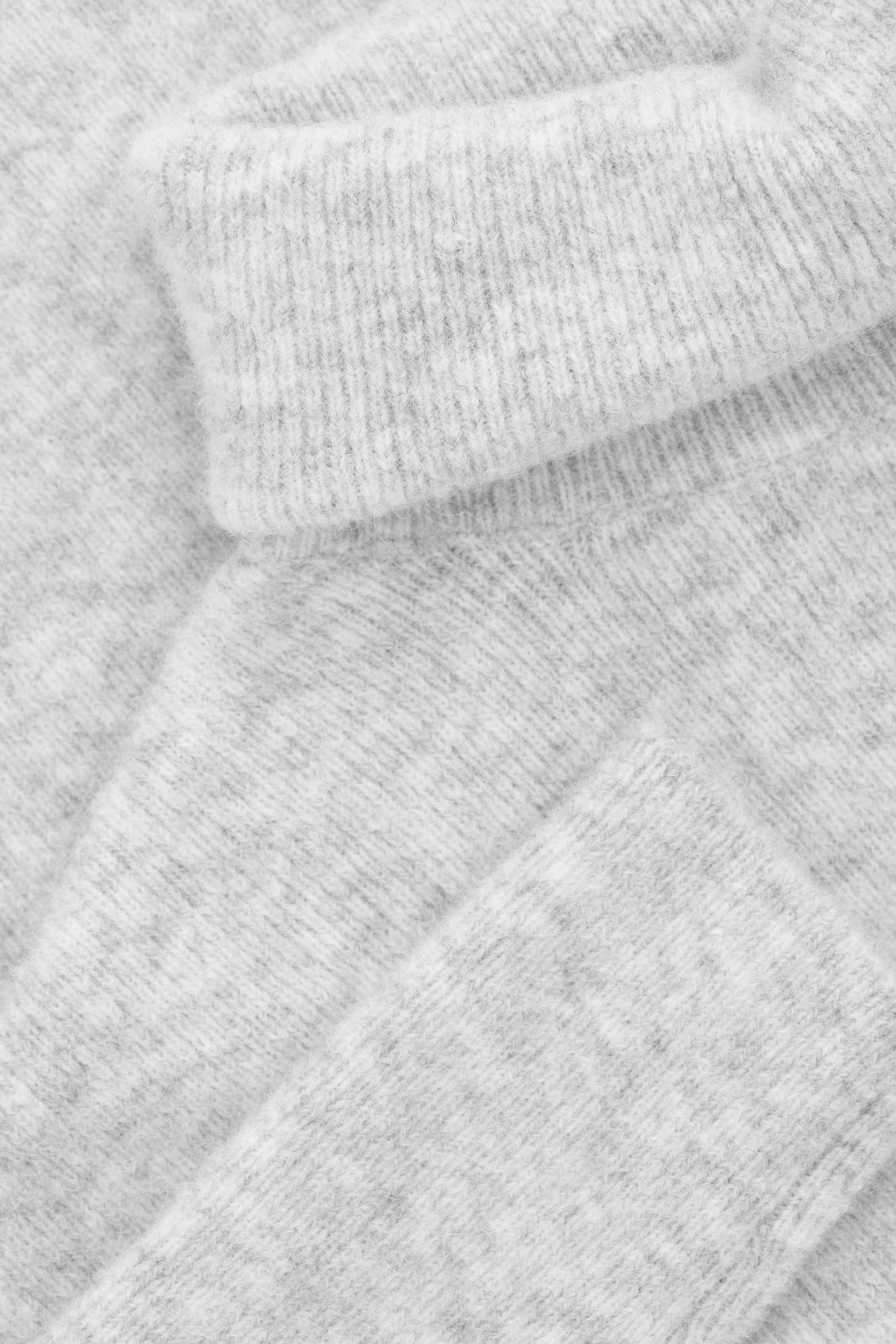 Side image of Cos alpaca-blend tunic jumper in grey