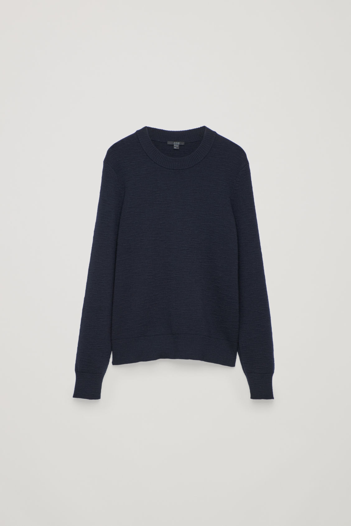Front image of Cos ribbed merino-wool jumper in blue