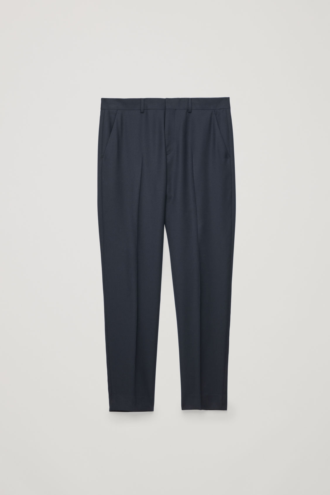 Front image of Cos regular-fit wool trousers in blue