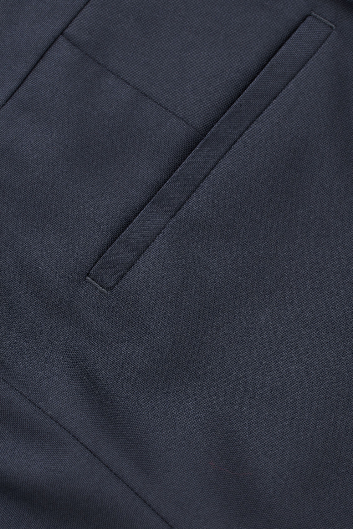 Side image of Cos regular-fit wool trousers in blue