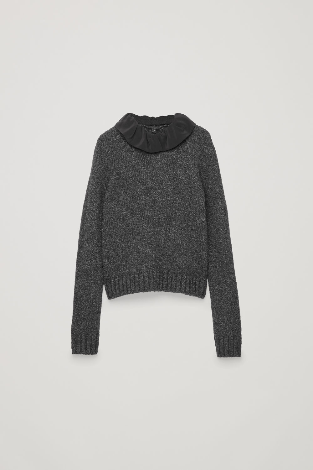 REMOVABLE-COLLAR WOOL JUMPER
