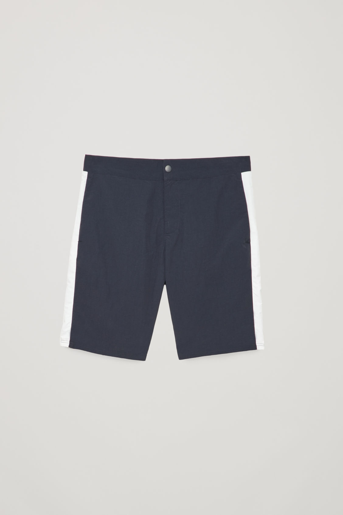 Front image of Cos slim-fit swim shorts in blue