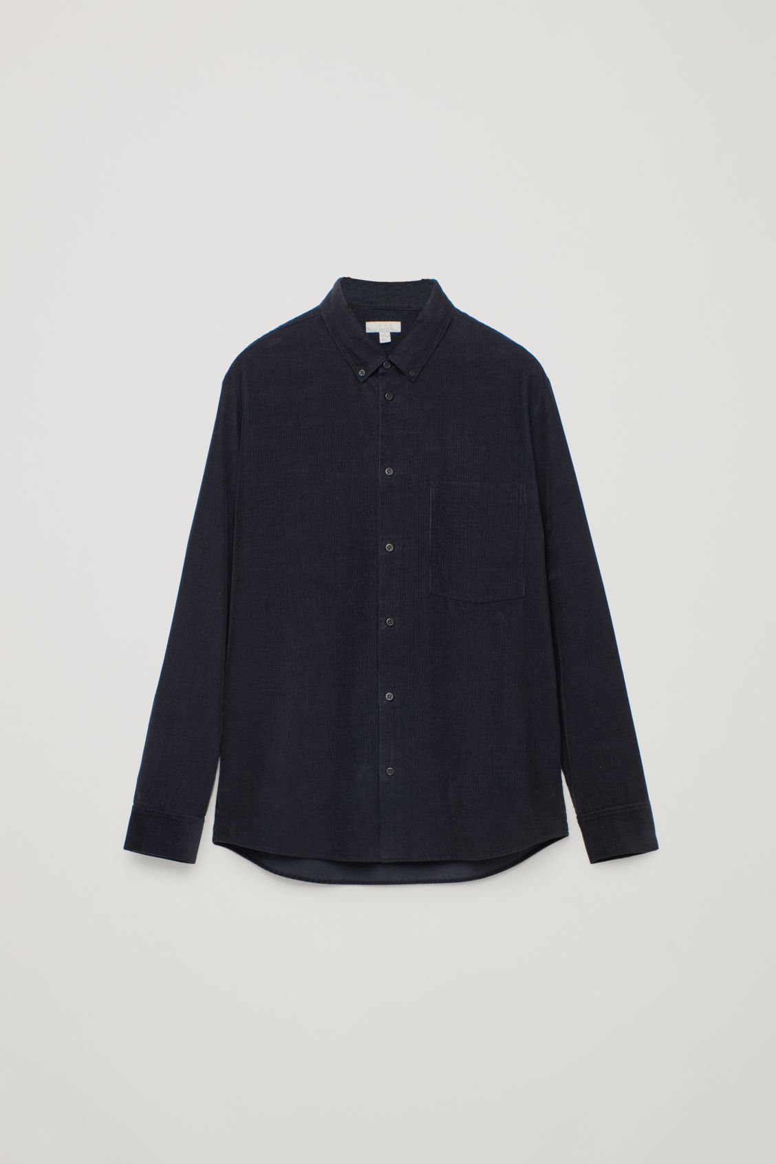 Front image of Cos corduroy shirt in blue