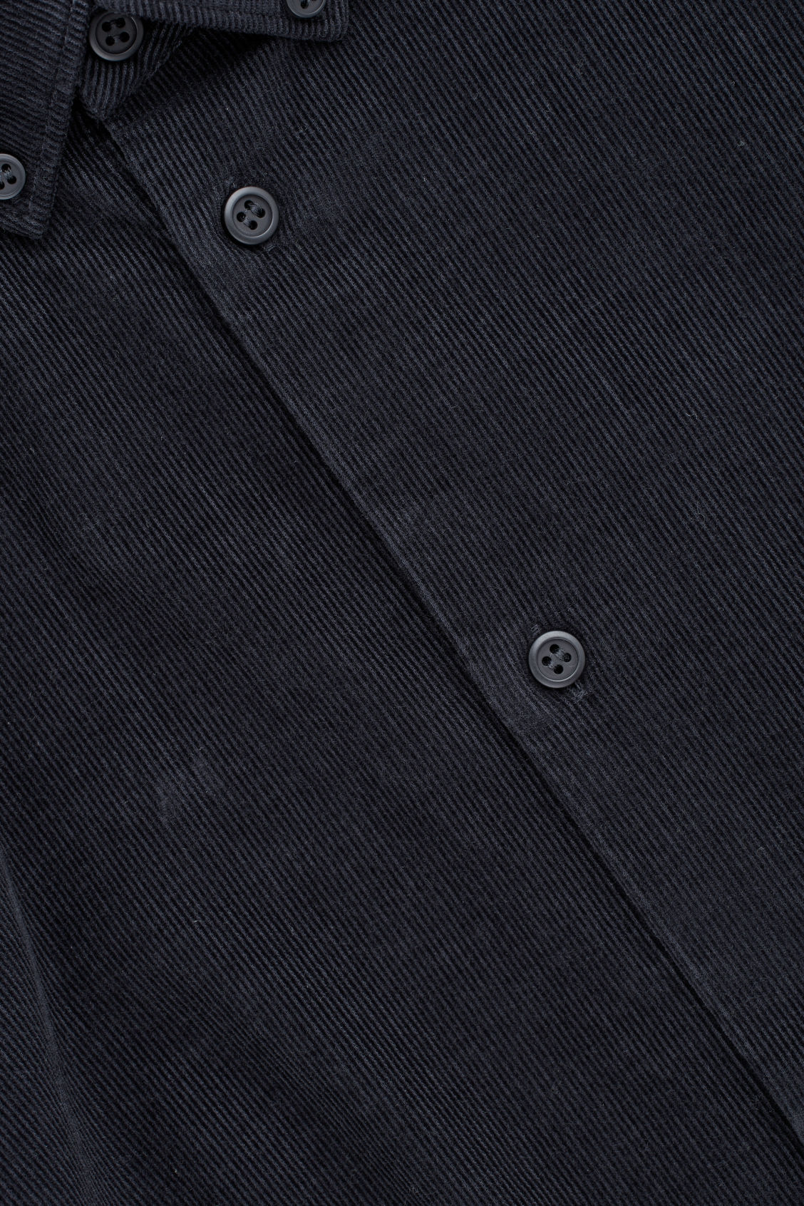 Side image of Cos corduroy shirt in blue
