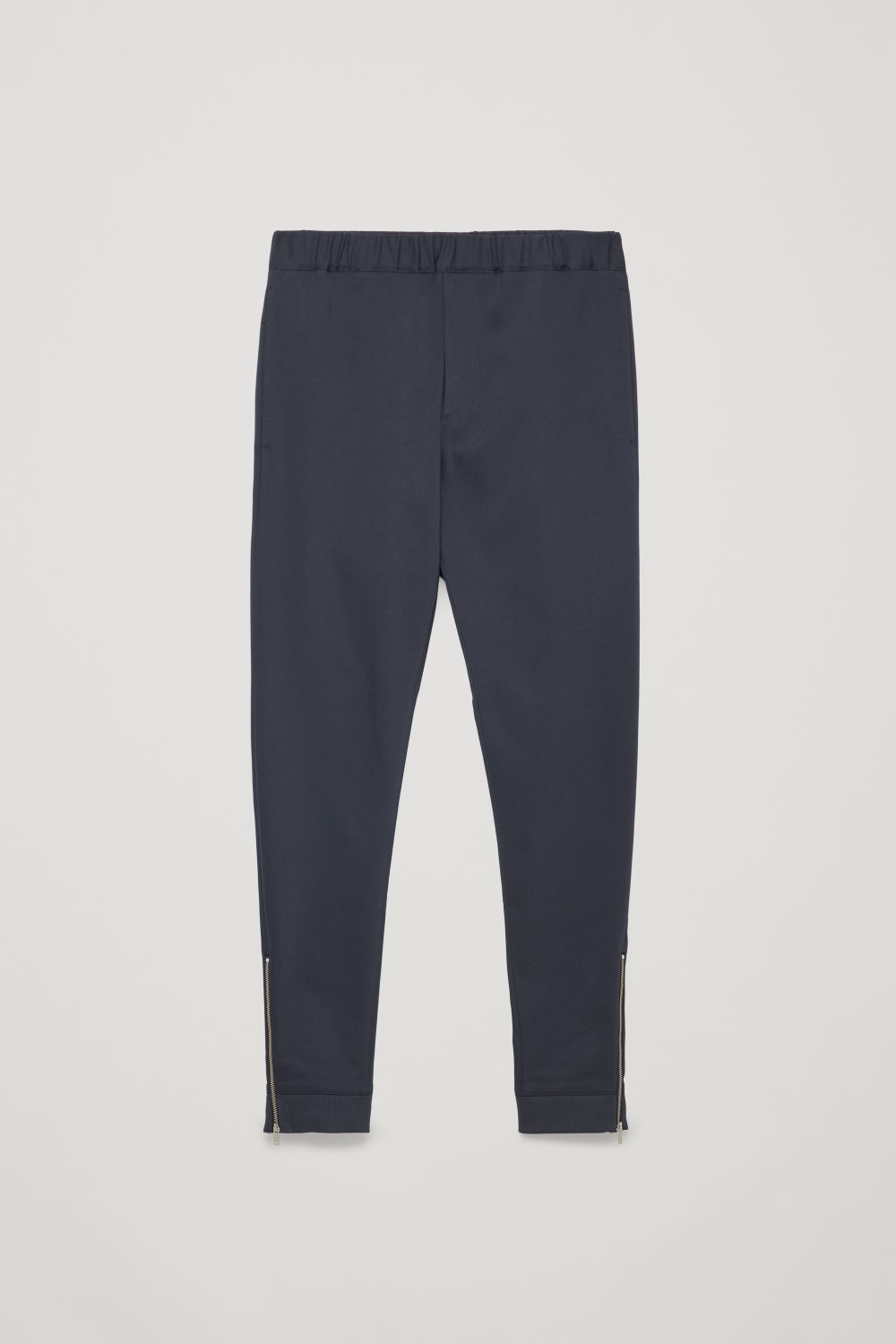 ZIP-CUFF ELASTICATED TROUSERS