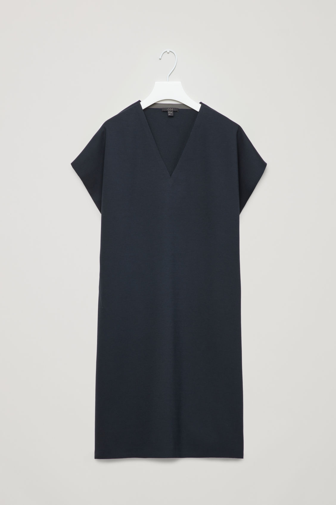 Front image of Cos elastic-detail jersey dress in blue