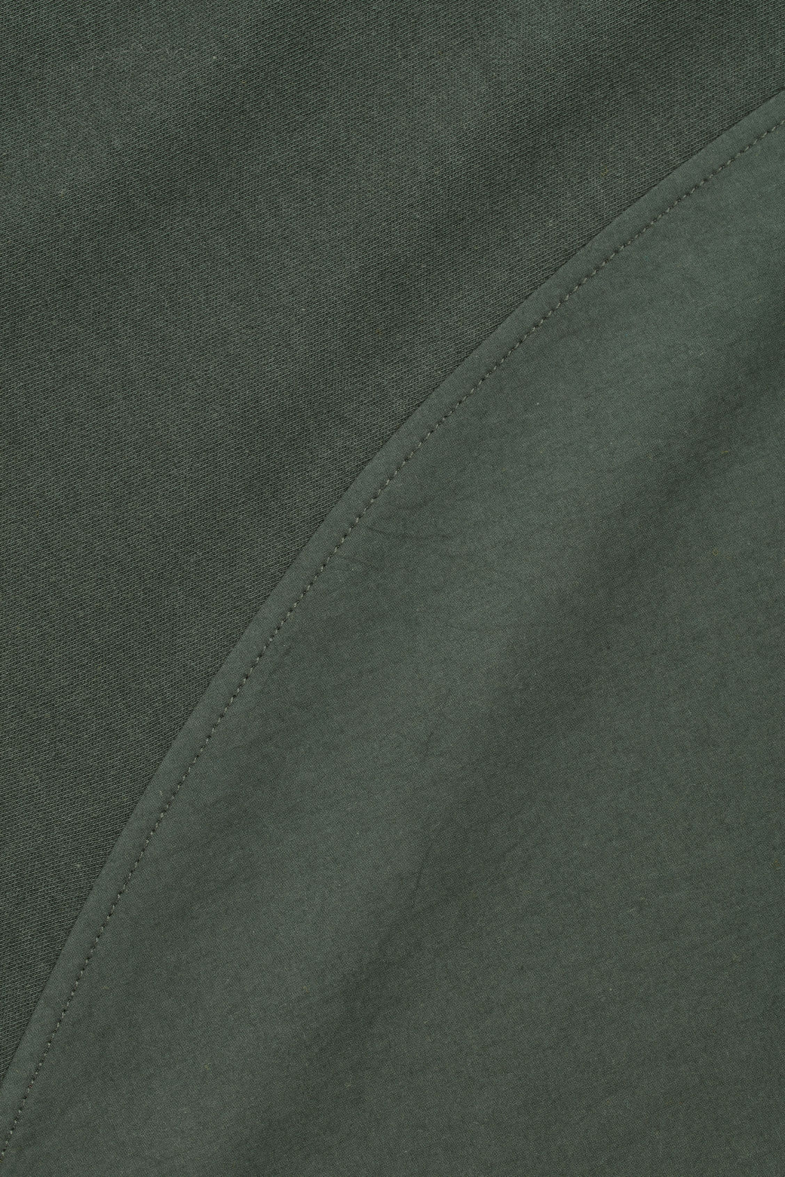 Side image of Cos circle-panelled t-shirt in green