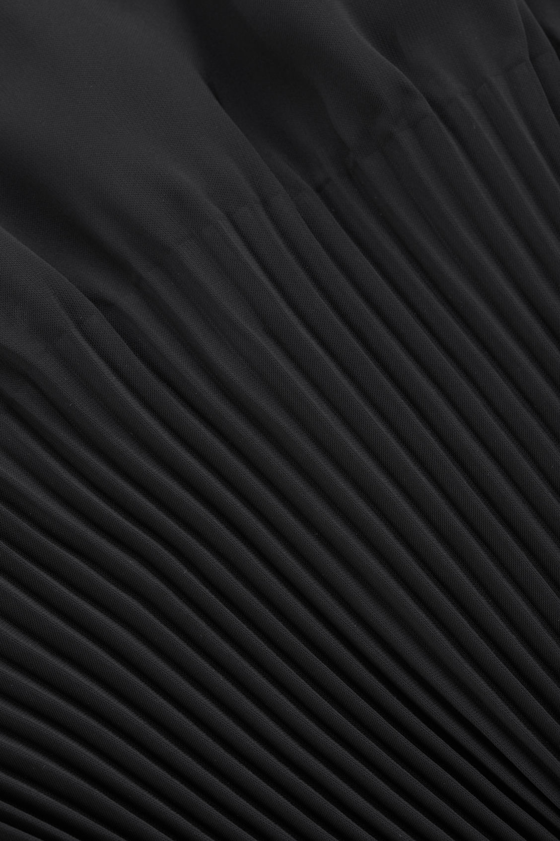 Side image of Cos pleated dress in black