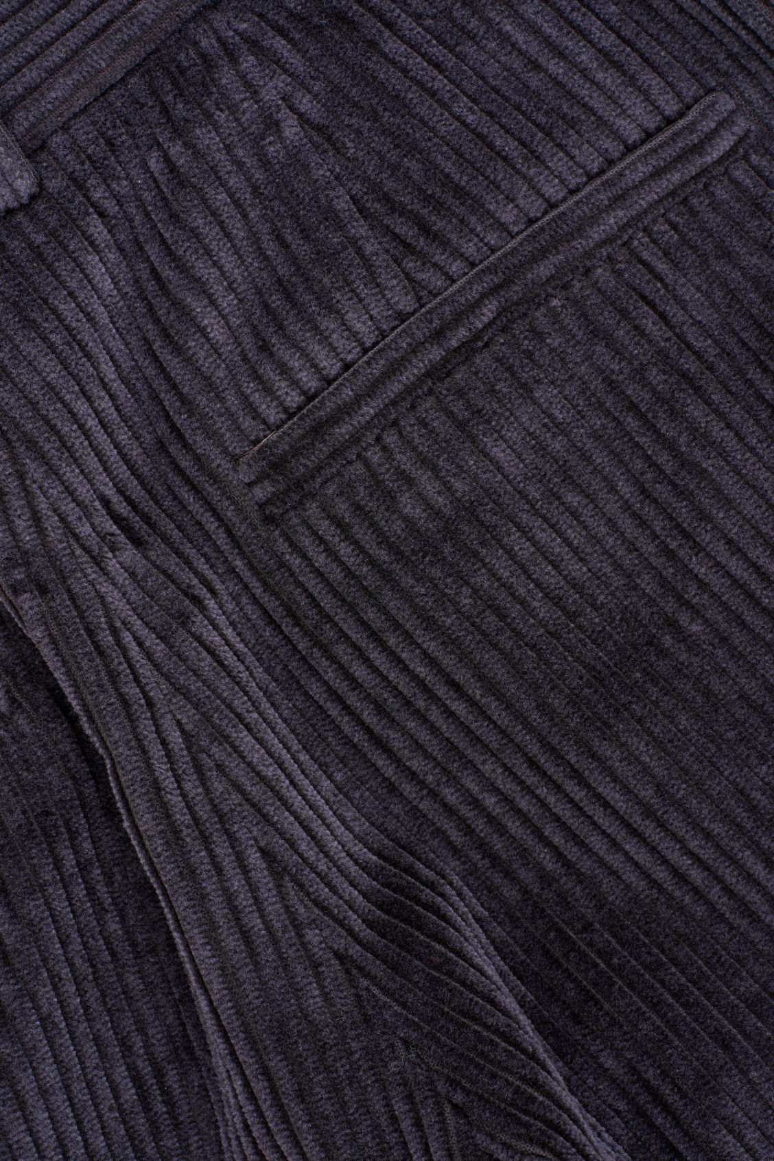 Side image of Cos relaxed turn-up corduroy trousers  in purple