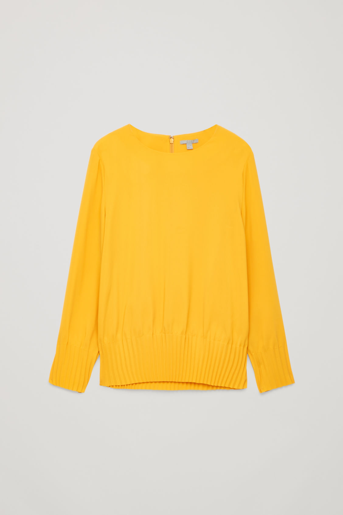 Front image of Cos pleated blouse in yellow