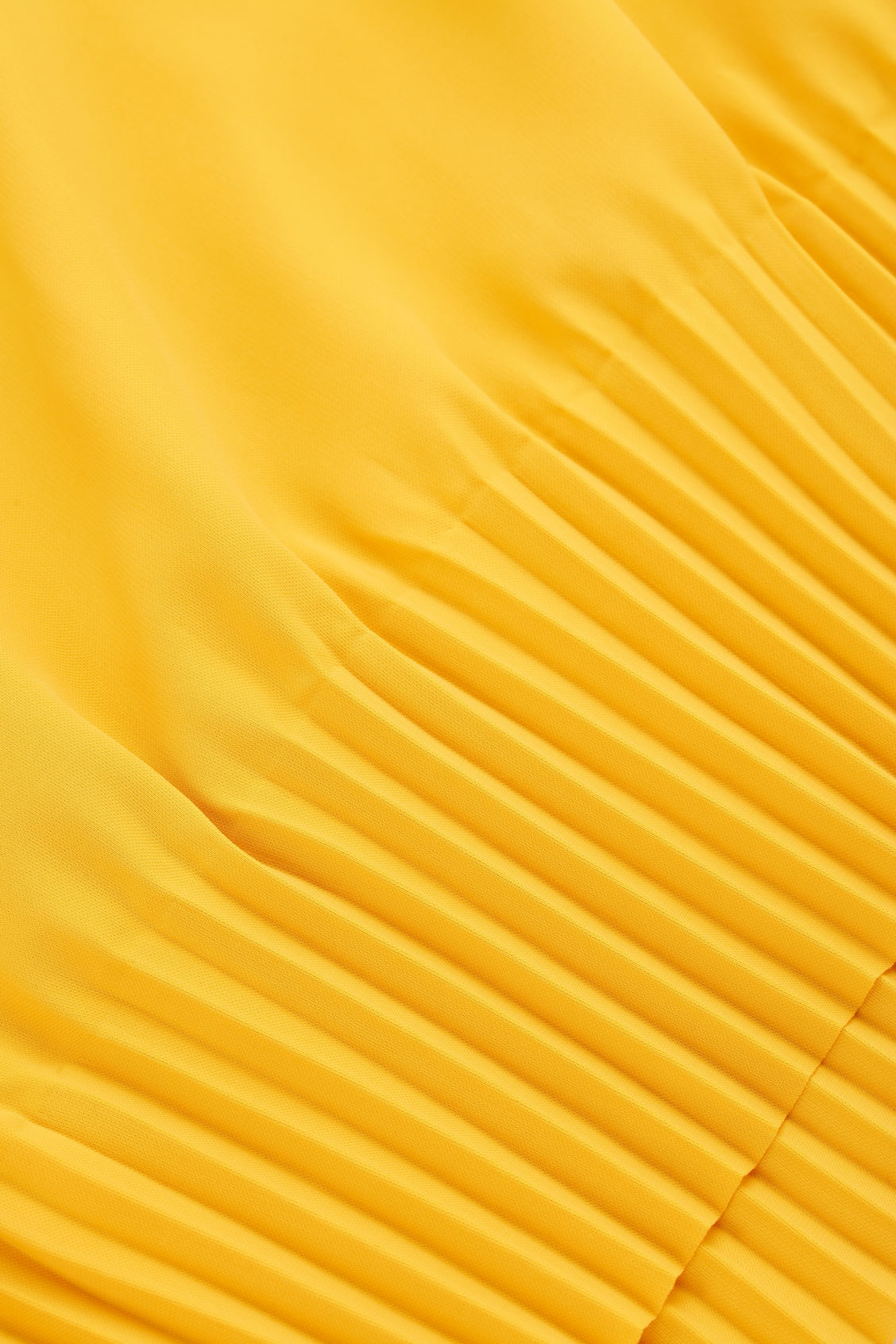 Side image of Cos pleated blouse in yellow