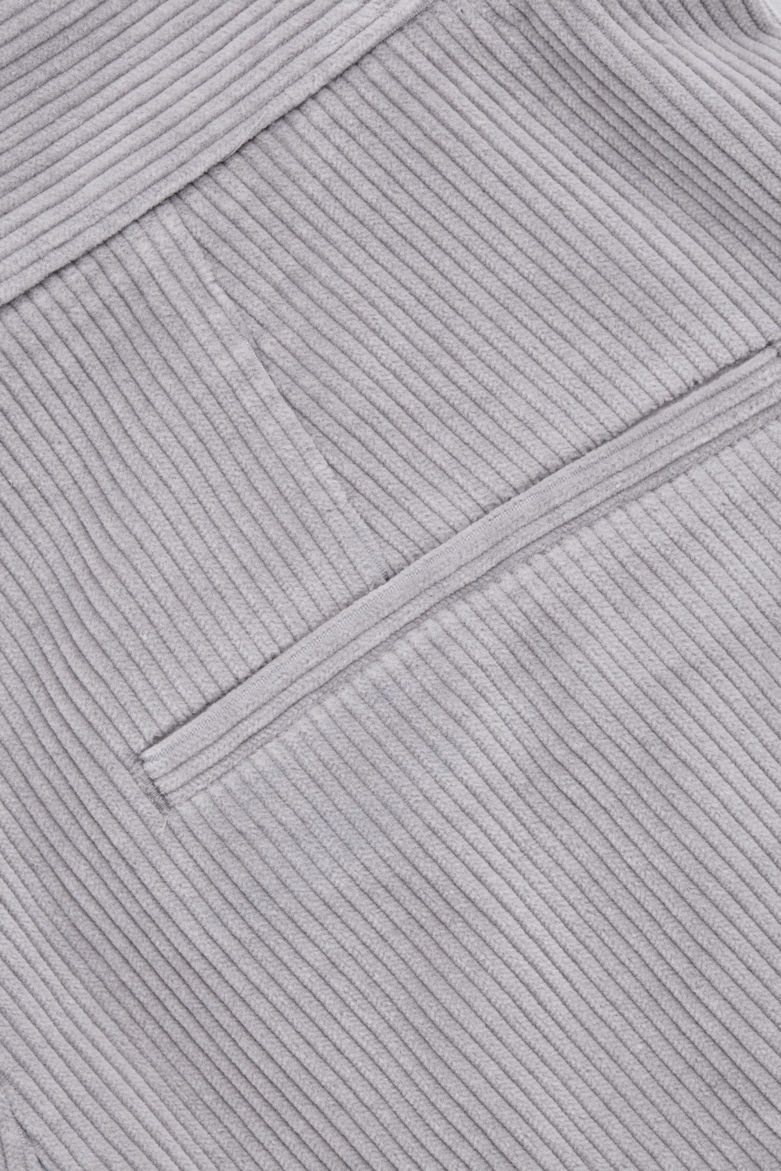 Side image of Cos wide-leg corduroy trousers in grey