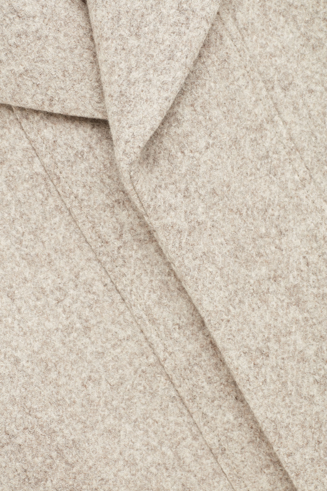 Side image of Cos short wool peacoat in brown