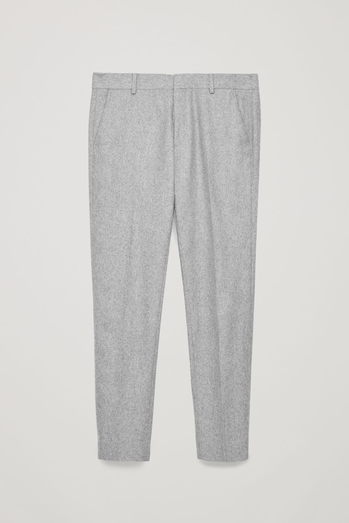 Front image of Cos slim-fit wool trousers in grey