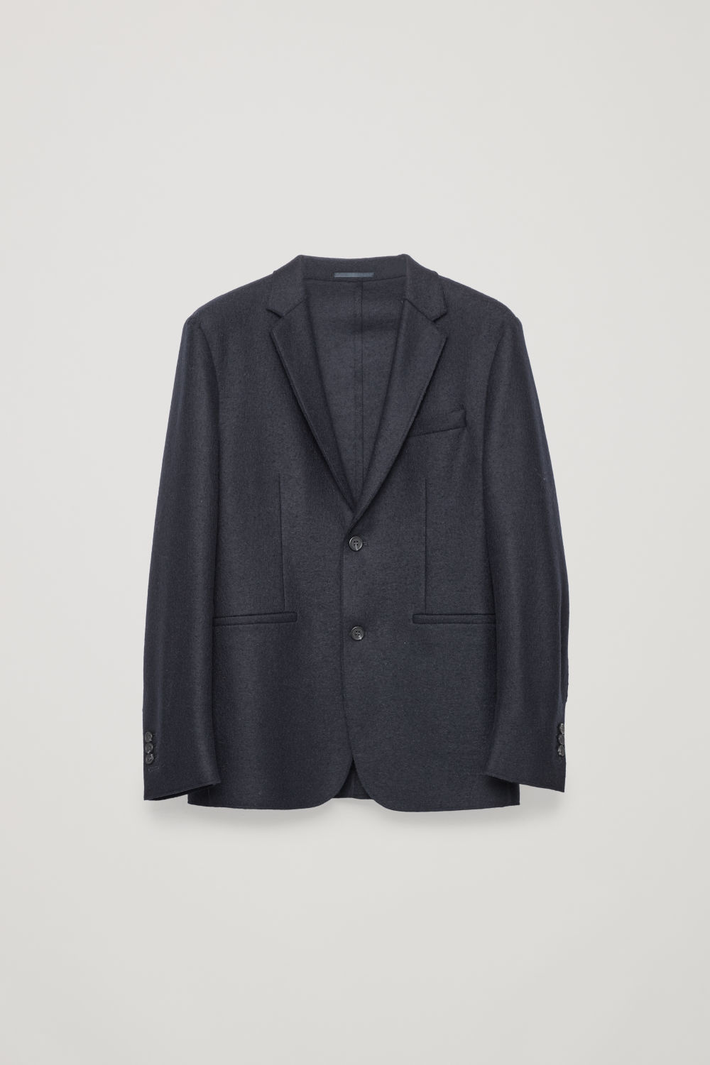 Front image of Cos brushed-wool blazer  in blue