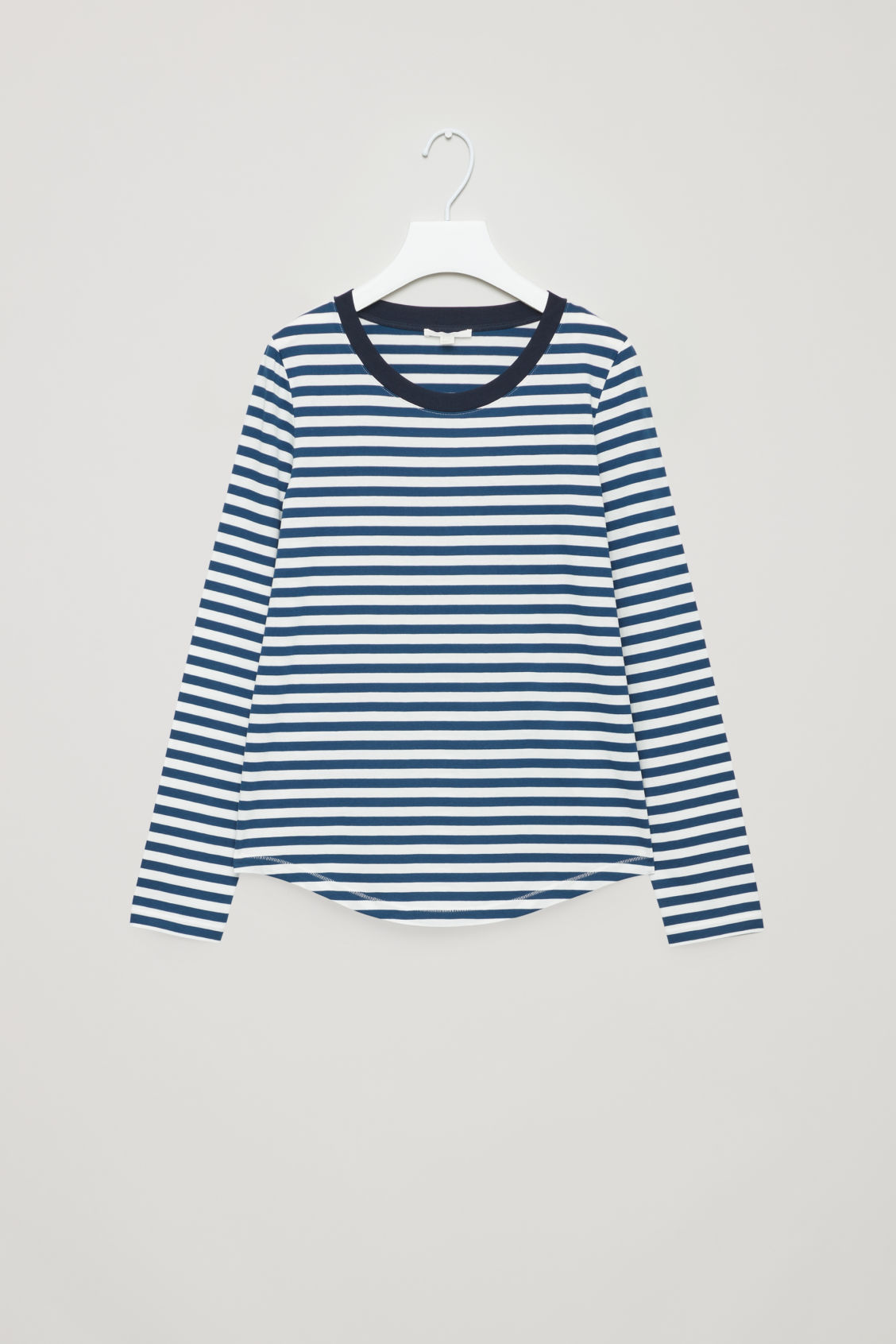 Front image of Cos striped long-sleeve top in blue