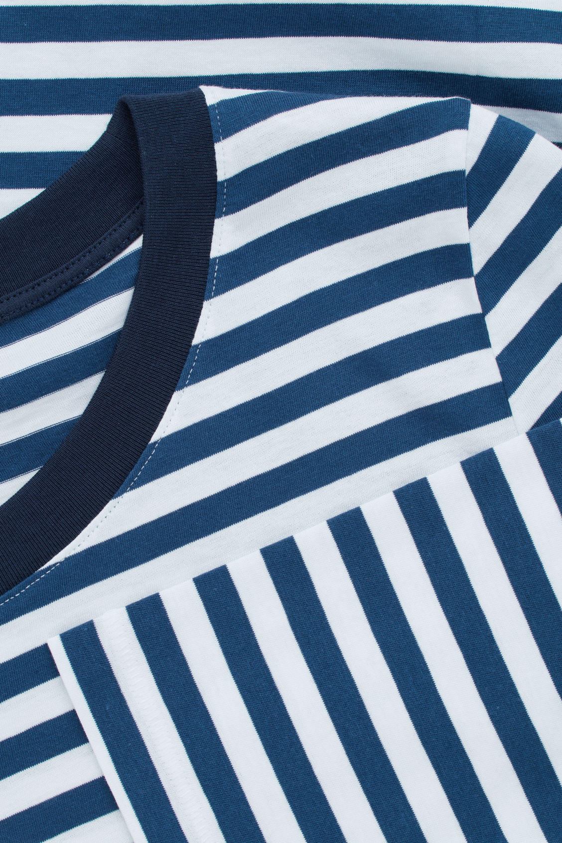 Side image of Cos striped long-sleeve top in blue