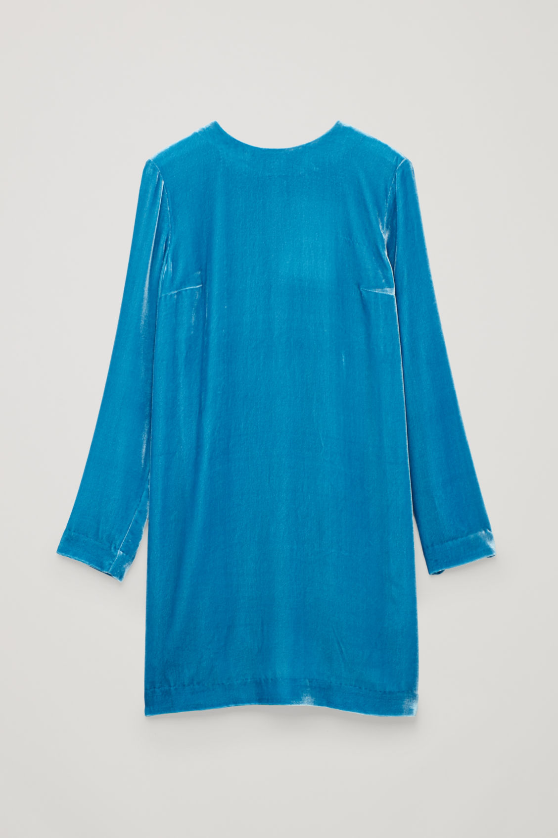 Front image of Cos short velvet dress  in blue