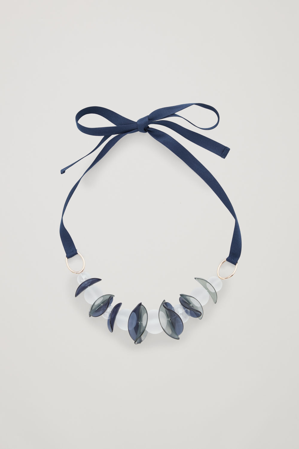 GLASS-BALL RIBBON NECKLACE