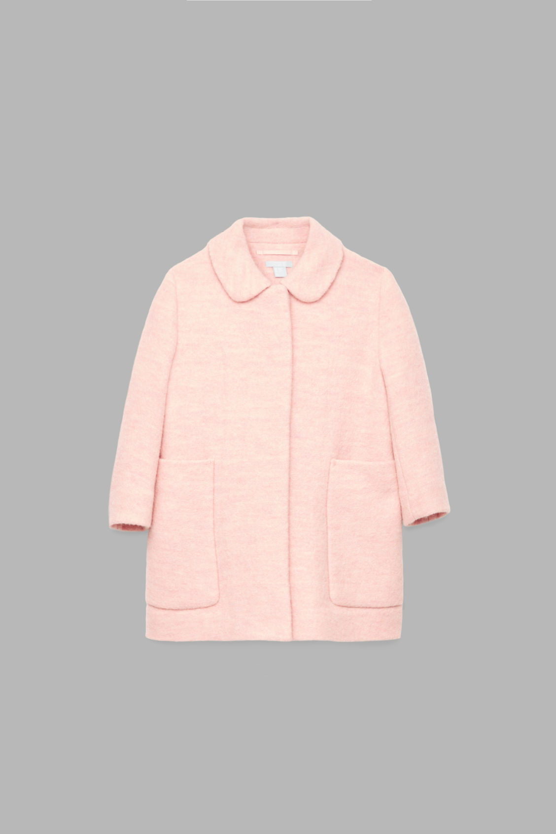 Front image of Cos boiled wool coat in pink