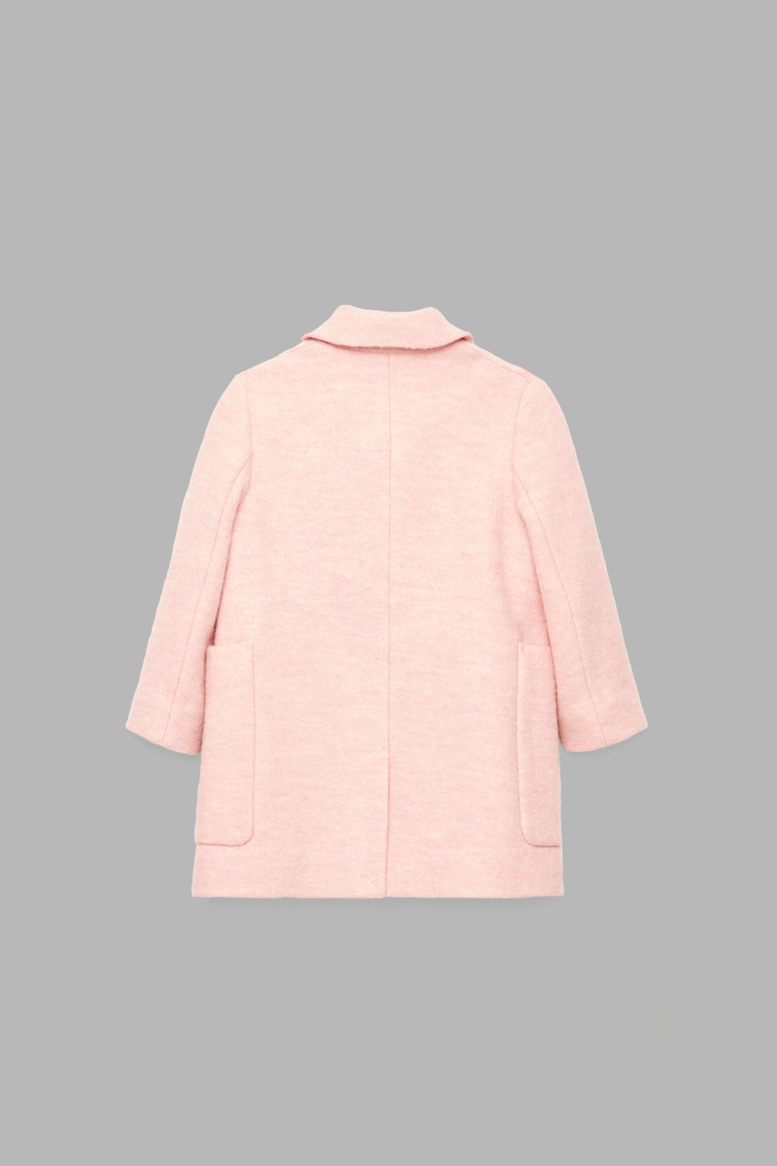 Side image of Cos boiled wool coat in pink
