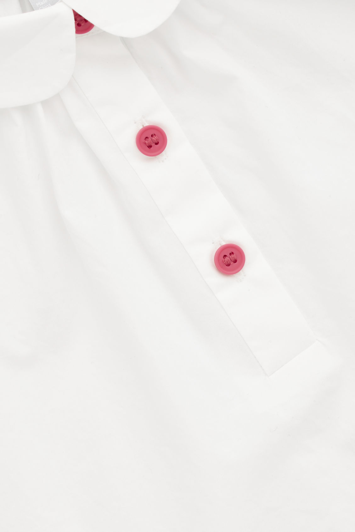 Side image of Cos round-collar shirt in white