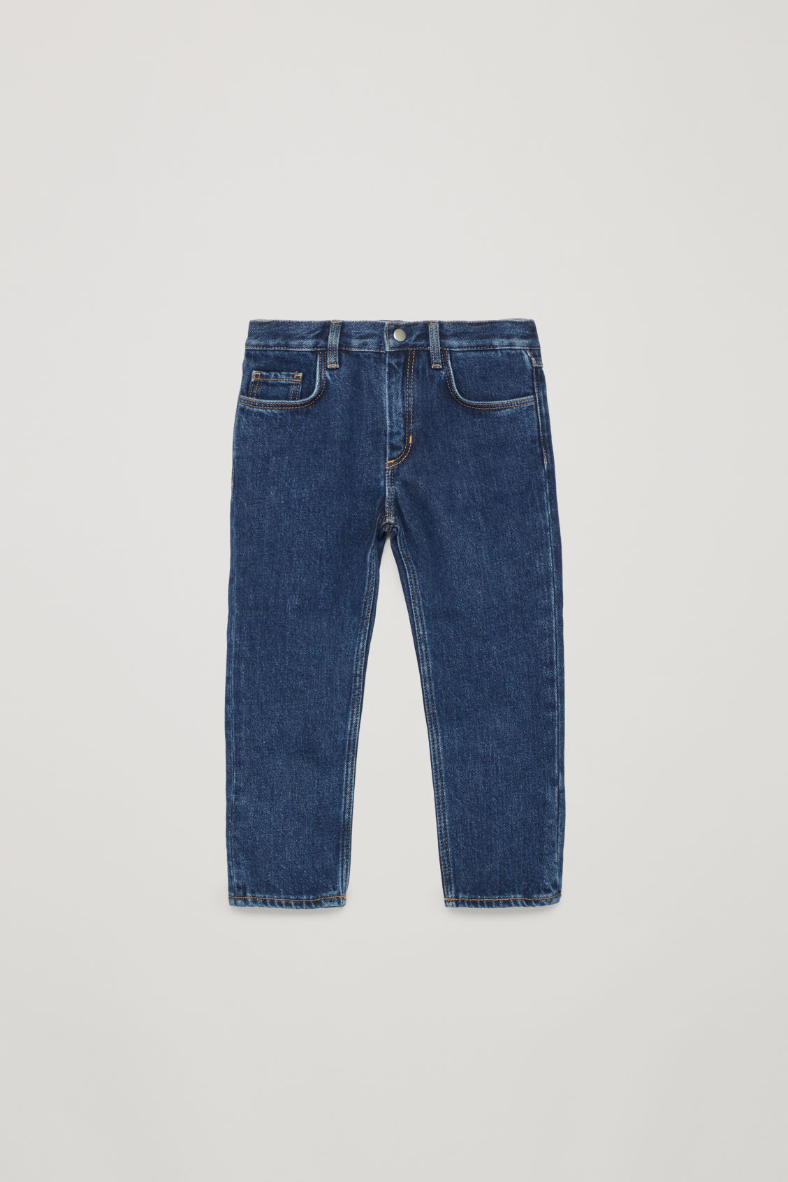 Front image of Cos straight-leg jeans in blue