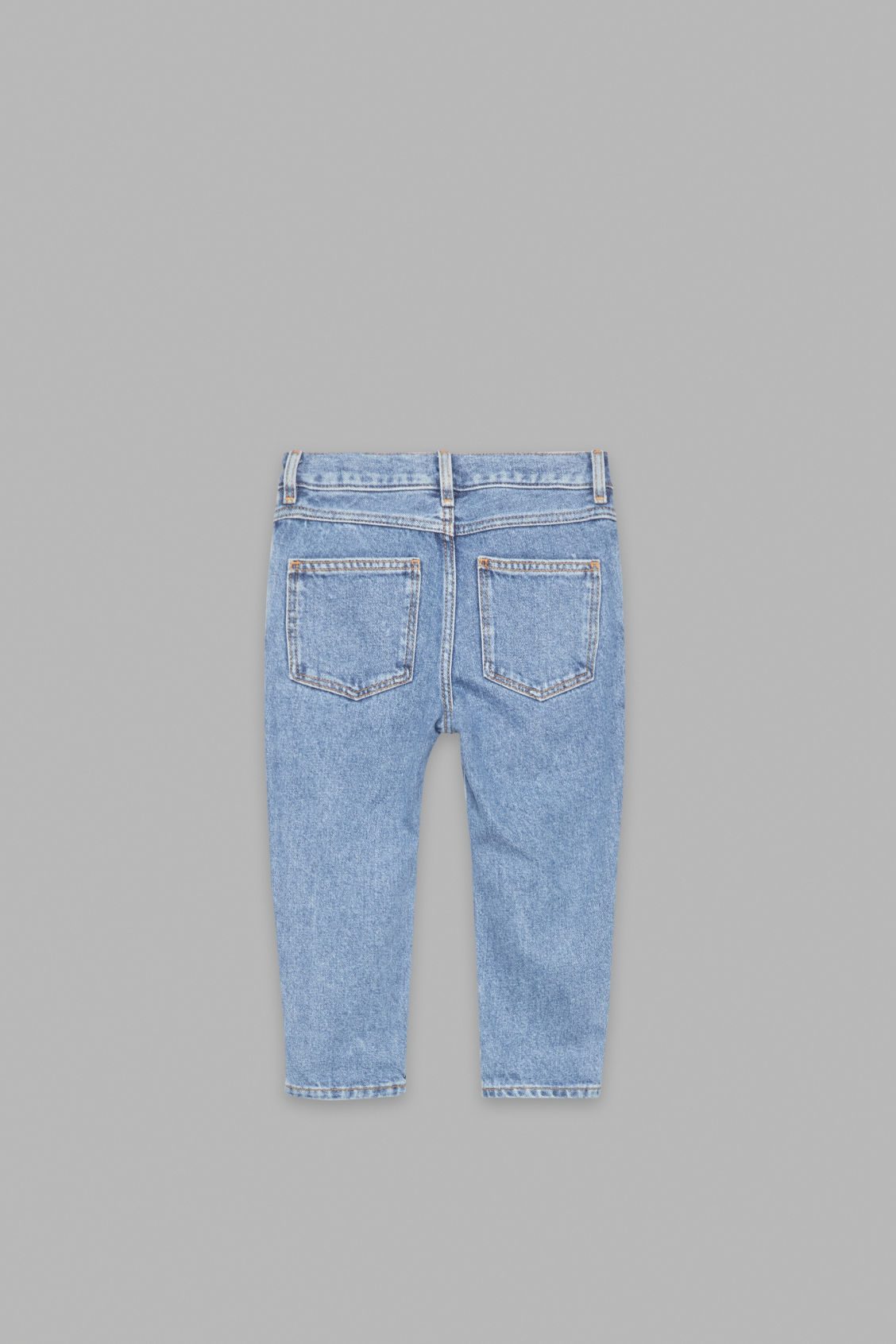 Side image of Cos straight-leg jeans in blue