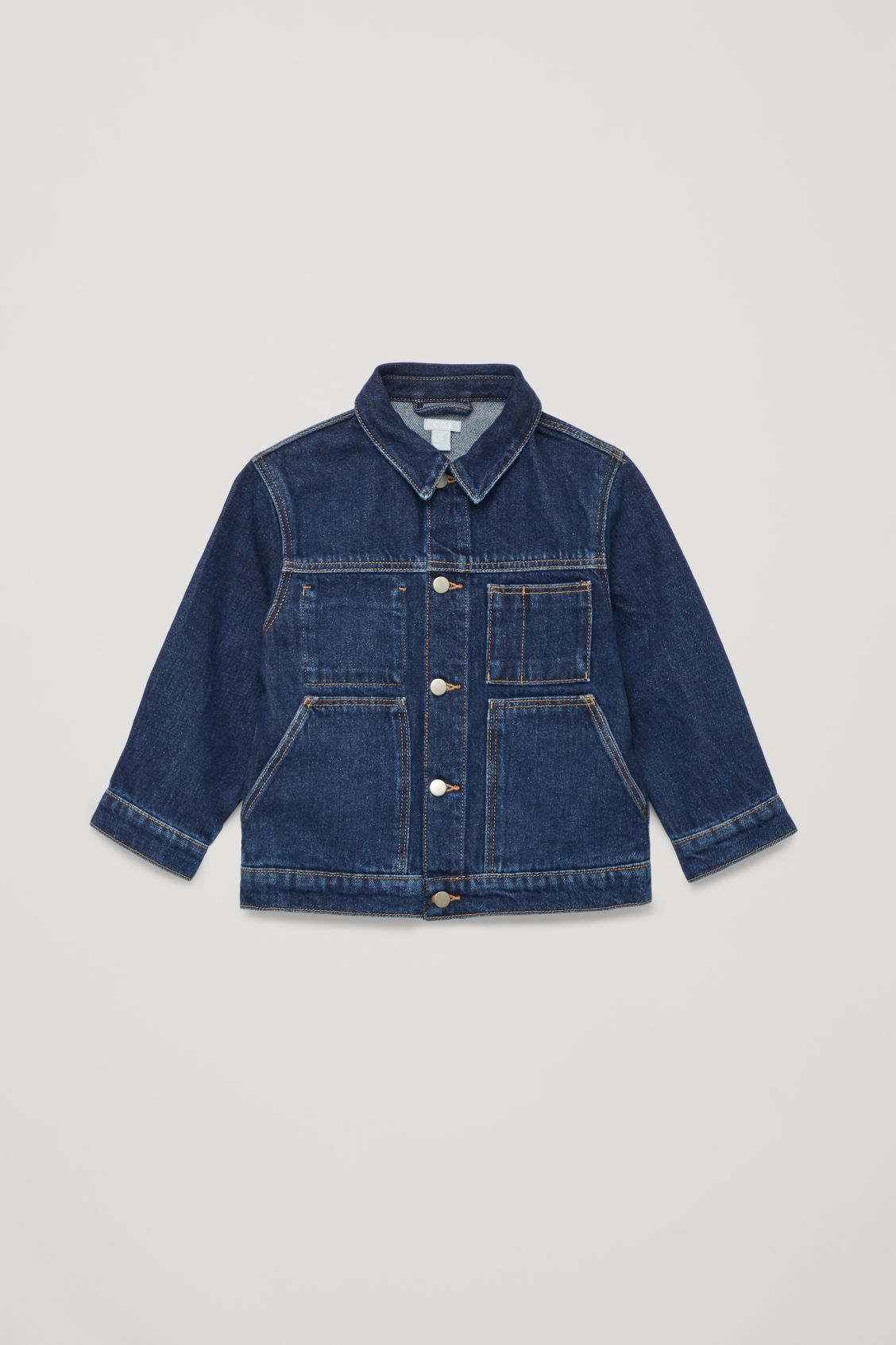 Front image of Cos denim jacket in blue