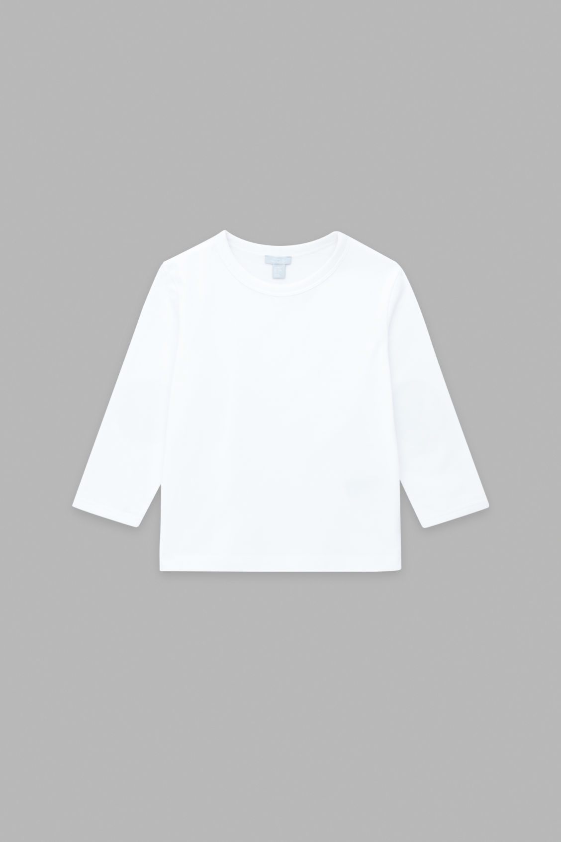 Front image of Cos long-sleeved cotton t-shirt in white