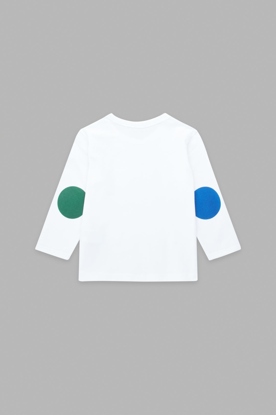 Side image of Cos long-sleeved cotton t-shirt in white