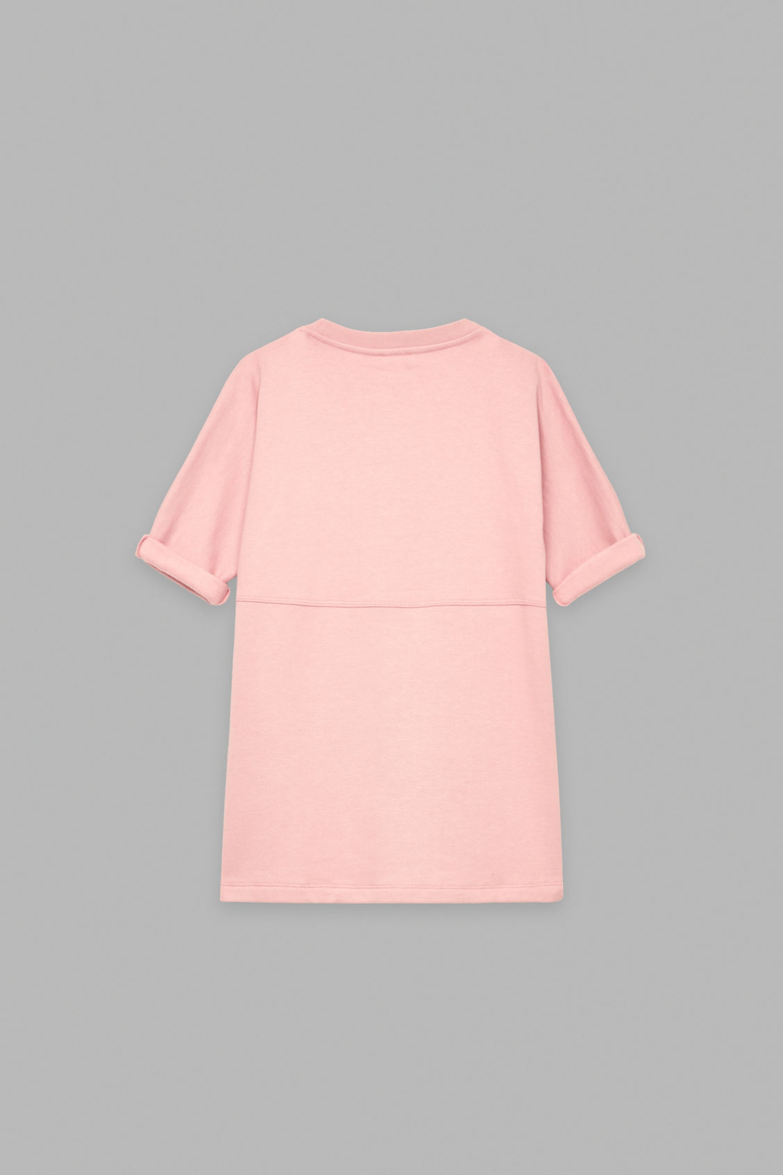 Side image of Cos circle patch-pocket dress in pink