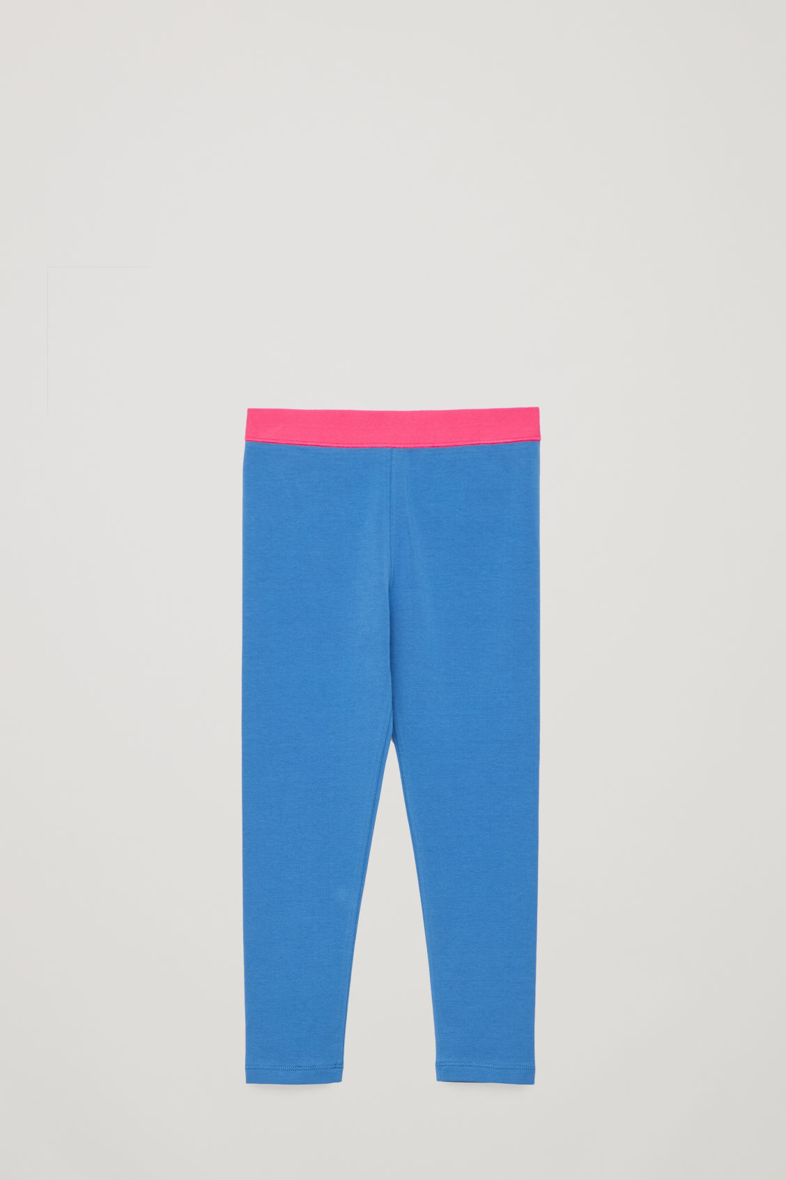 Front image of Cos cotton jersey leggings in blue