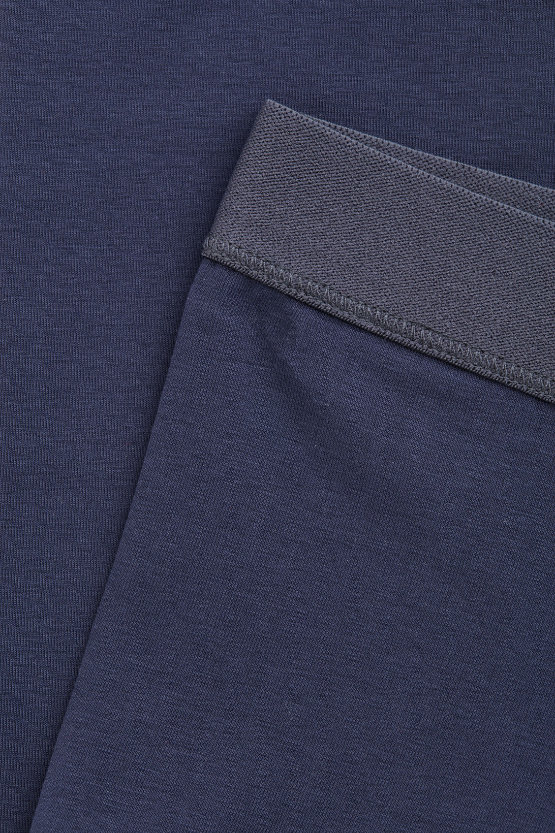 Side image of Cos cotton jersey leggings in blue