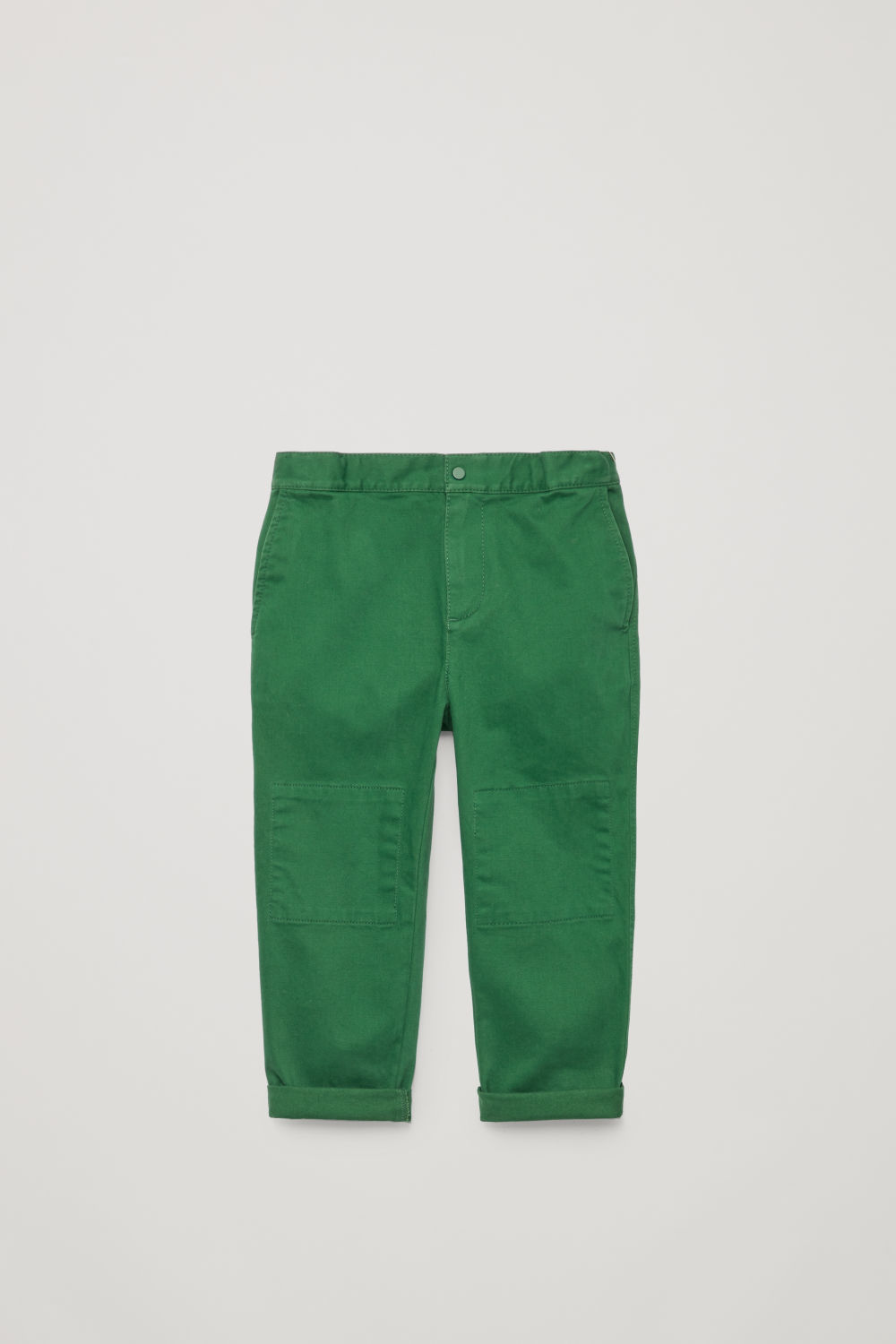 PATCH-POCKET COTTON TROUSERS