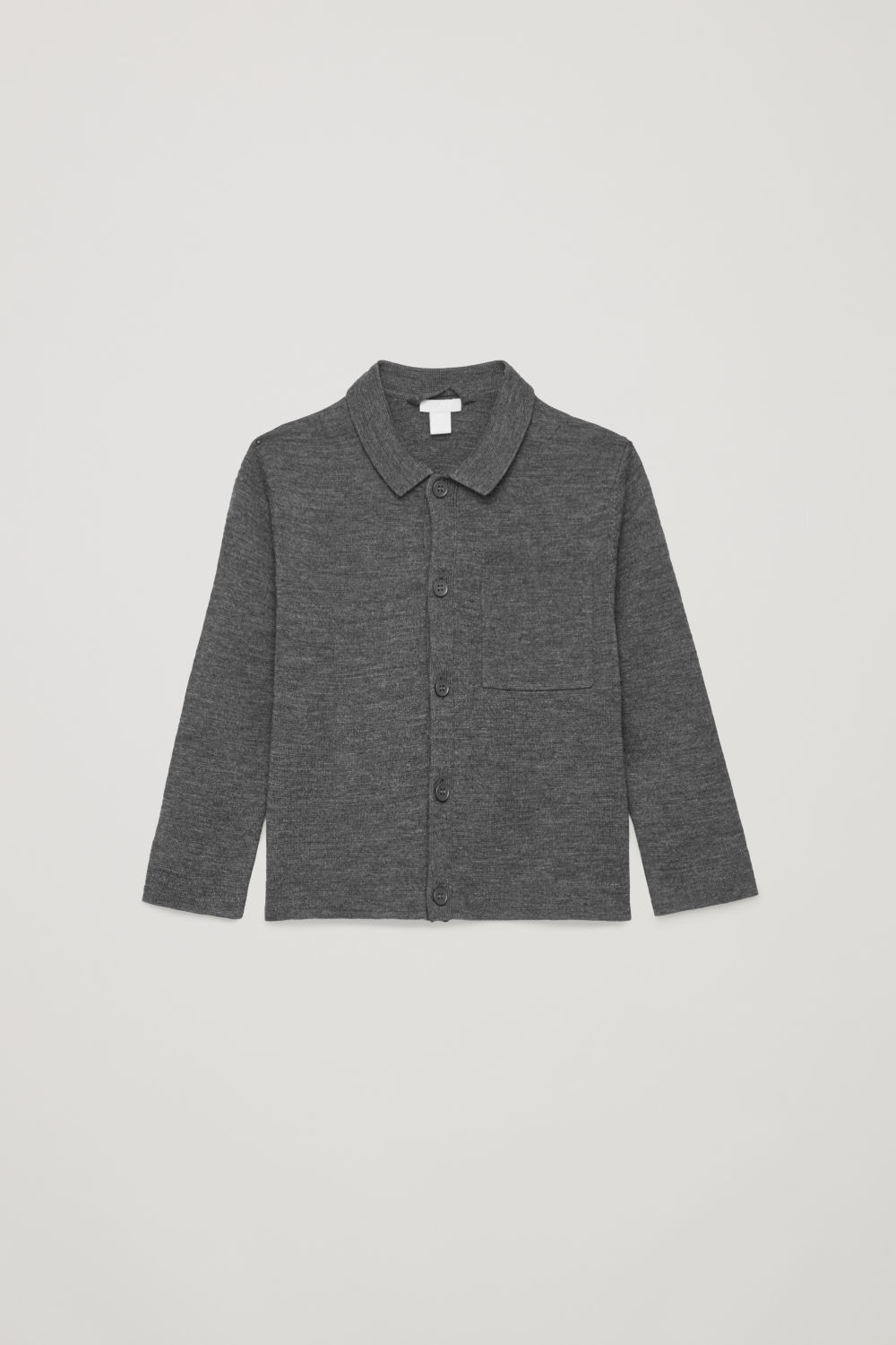 MERINO-KNIT SHIRT CARDIGAN